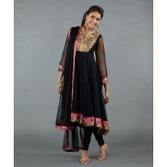Pink Brocade and Aari Embroidery Salwar