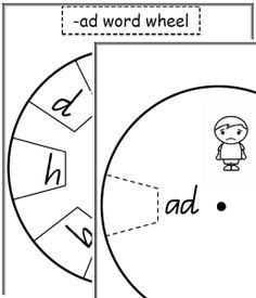 Cut the word wheel and attach both parts with paper