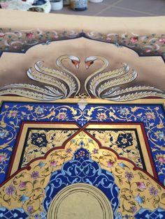 Arabic Pattern, Pattern Art, Mandala, Islamic Patterns, Persian Motifs, Turkish Art, Scribe, Gold Work, Manish