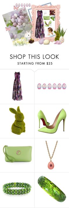 """""""Easter"""" by stormysmom ❤ liked on Polyvore featuring Chicwish, Allstate Floral, Christian Louboutin, Versace, Miadora and Lauren Conrad"""