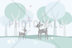 Deer in Woods - Fototapeter & Tapeter - Photowall