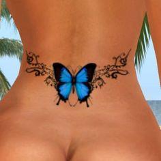 blue butterfly lower back