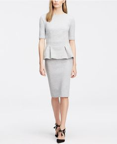 Ann Taylor Structured Pelpum Top £59 and Petite Ponte Pencil Skirt £98