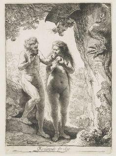Adam en Eva, Rembrandt Harmensz. van Rijn, 1638