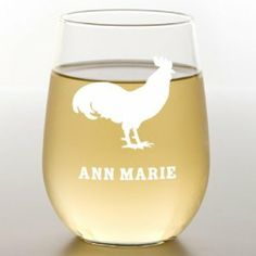 Rooster Stemless Wine Glass by 121 Personal Gifts. $14.95. Stemless wine glasses are ideal for family style dining and intimate dining rooms. The sleek styling serves a lovely glass of wine or doubles as a water glass. The stemless design makes it sure and steady on the table. Holds 15oz.
