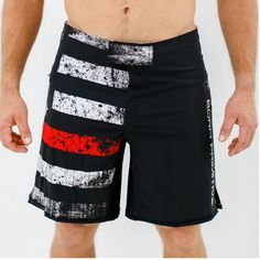 Born Primitive American Defender Shorts 2.0 (Thin Red Line Edition) Show your support for the brave men and women that risk their lives every day to keep us saf