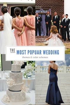 If you're just starting to plan your wedding, you might be curious about what is the most popular theme or color for weddings right now. Whether you want ideas