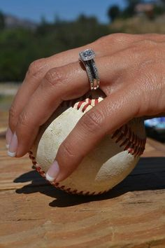 Vintage Baseball Wedding Ring and Baseball
