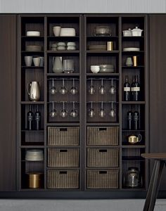 Your Guide to kitchen pantry cabinet ontario exclusive on Kitchen Pantry Cabinets, Wine Cabinets, Bar Sala, Küchen Design, Interior Design, Crockery Cabinet, Pantry Shelving, Pantry Storage, Open Shelves