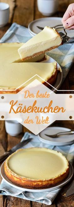 The best cheesecake in the world with sour cream - Ina Eats- Der beste Käsekuchen der Welt mit Schmandguss – Ina Isst Ina Is (s) t: The best cheesecake in the world with sour cream - Best Cheesecake, Easy Cheesecake Recipes, Nutella Cheesecake, Cupcake Recipes, Baking Recipes, Cookie Recipes, Torte Au Chocolat, Savoury Cake, Food Cakes