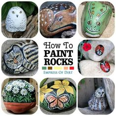 How to paint creative rocks