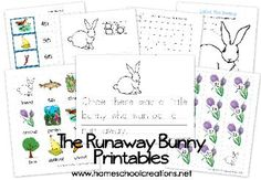 Free printables to use with the book The Runaway Bunny by Margaret Wise Brown - preschool and kindergarten skills from homeschoolcreations.net
