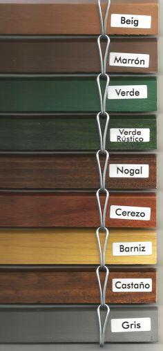 Colores de #persianas #madera #alicantinas