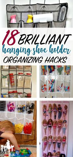 hanging shoe holder organizing hacks - nothing is easier than organizing with a hanging shoe holder. Save space with this awesome hack! Check out the post for all 18 genius ways to organize with a hanging shoe holder Small Space Storage, Small Space Organization, Home Organization Hacks, Storage Hacks, Organizing Your Home, Makeup Organization, Storage Solutions, Organizing Ideas, Storage Ideas