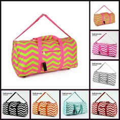 Monogrammed Custom 22 Chevron DUFFLE Bag by FashionateBoutique, $17.99