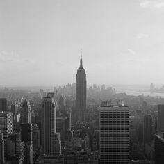 Blick auf Empire State Building und Manhattan
