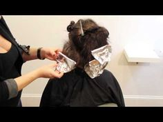Tease Highlight Technique - How to ombré hair using the teasing technique freesaloneducation.com - YouTube