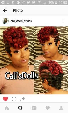 50 Best Very Beautiful Wavy Vintage Hairstyles for Black Women Hair Ideas Quick Weave Hairstyles, Cute Hairstyles, Party Hairstyles, Vintage Hairstyles, Braided Hairstyles, Short Curls, Short Hair Cuts, Finger Wave Hair, Finger Waves