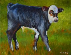 "Sweet Willie, is an original oil painting by Annetta Gregory and is an 14""x18"" oil on canvas."