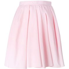 Carven pleated short skirt found on Polyvore