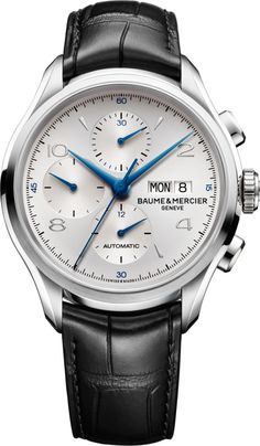 Baume et Mercier Clifton Chronograph Steel -- beautifully balanced and proportioned.