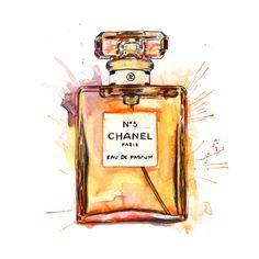 Chanel Splash Watercolour Illustration giclée Print by MichaelJIllustration on Etsy https://www.etsy.com/listing/204020340/chanel-splash-watercolour-illustration