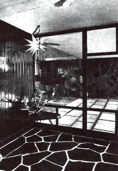 Vista del vestíbulo, Casa en Nápoles, calle Dakota 366, Nápoles, Benito Juárez, Ciudad de México  1956 (modificada)  Arq. Antonio Abud Nacif -   View of the entry hall, House in Napoles, Dakota 366, Napoles, Benito Juarez, Mexico CIty 1956 (modified)