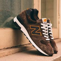 2016 New Balance M1400CSR Made In USA Brown Orange Mens Sneakers $59