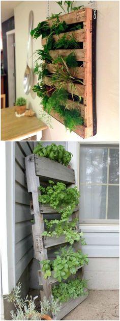 Ideas para crear un jardín vertical en casa. Visto en www.ecodecomobiliario.com