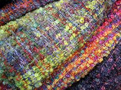Irish handweaving...some of the most beautiful fabric I've ever seen!