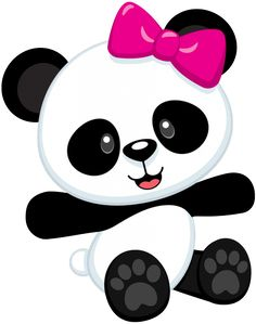 cute cartoon panda cute cartoon panda bears clip art cartoon rh pinterest com