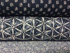 Moda Fabrics Kasuri Collection Kasuri Stars indigo by kimonomomo
