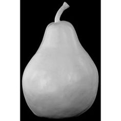 White Fiberstone Pear Decor