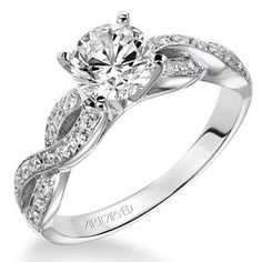 B E A utiful! Artcarved Gabrielle Bypass Twist Diamond Engagement Ring · 31-V158-E · Ben Garelick Jewelers