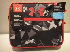 1721677348 Under Armour Insulated Lunch Box & Vacuum Insulate Thermos Color Black  Red Gray #Underarmour