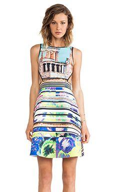 Clover Canyon Acropolis Garden Neoprene Dress en Multi