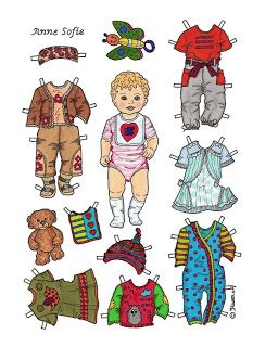Baby Paper Dolls 60 Kids Printables Coloring Pages