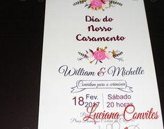 """""""PROMOÇÃO"""" Convite William e Michelle"""