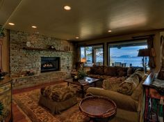 LHM Lake Tahoe - No detail was overlooked in the 2003 rebuilding of this incredible lakefront estate. It features magnificent quality inside & out, from the intricately carved bathroom tiles to the lush grass bordering a private sandy beach.