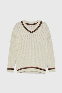 TEXTURED CABLE - KNIT SWEATER-View All-KNITWEAR-MAN | ZARA Austria