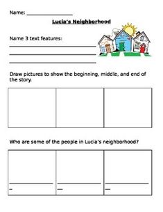 This is a comprehension activity to go along with the main selection in 1st grade Journeys... Lesson 4