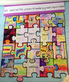 Setting the scene activity. Huge jigsaw, will stay up all year :)