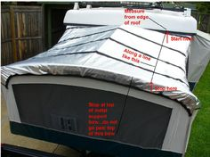 Pop Up Gizmo solar bunkend covers How to measure your bunkend canvas Pop Up Camper Trailer, Trailer Tent, Trailer Diy, Popup Camper Remodel, Camper Renovation, Camper Hacks, Diy Camper, Pop Up Camper Accessories, Hybrid Camper