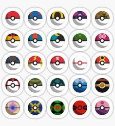 Pokéballs of the World Sticker