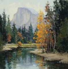 Fall Tapestry in Yosemite by Kim Lordier Pastel ~ 20 x 20