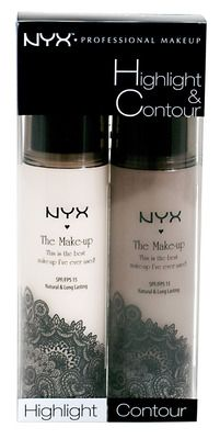 NYX Cosmetics Highlight and Contour set hmmm . Maybe worth trying! NYX is my favorite makeup Highlighter Makeup, Makeup Dupes, Bronzer, Concealer, Makeup Contouring, Elf Dupes, Eyeshadow Dupes, Applying Makeup, Lipstick Dupes