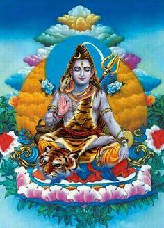Lord shiva in newari art painting