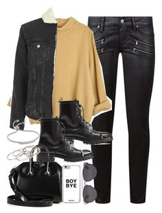 """Outfit for winter with a mustard jumper"" by ferned on Polyvore featuring Paige Denim, Topshop, Alexander Wang, Givenchy, Pieces, Monica Vinader and Christian Dior"