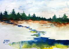 Wonderful little watercolor, just finished a beginning watercolor class at school this semester