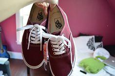 Just Girly Things, vans! Vans Shoes, Shoes Heels, Pumps, Cute Shoes, Me Too Shoes, Maroon Vans, Purple Vans, Red Vans, Shoes